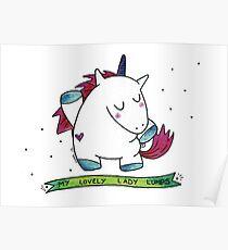 Unicorn Lumps Poster