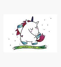 Unicorn Lumps Photographic Print
