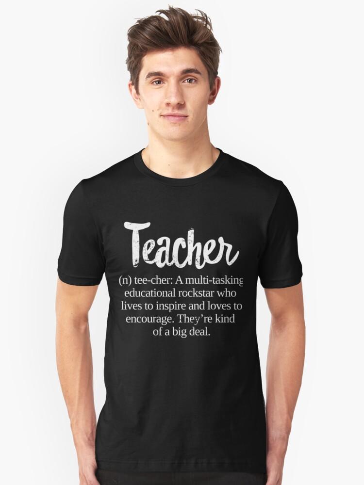 Teacher Definition: Educational Rockstar Big Deal Unisex T-Shirt Front