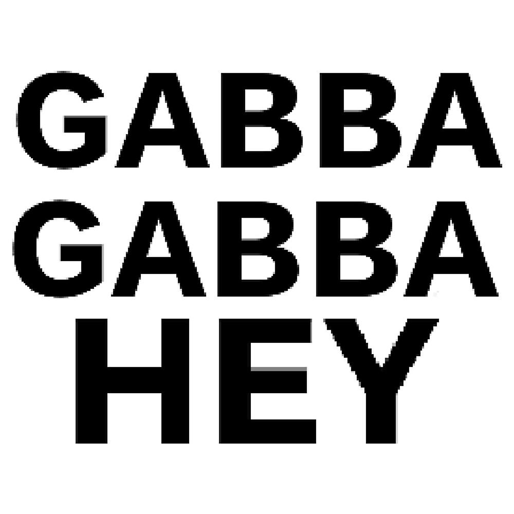 gabba gabba hey by ISHITINMYHANDS