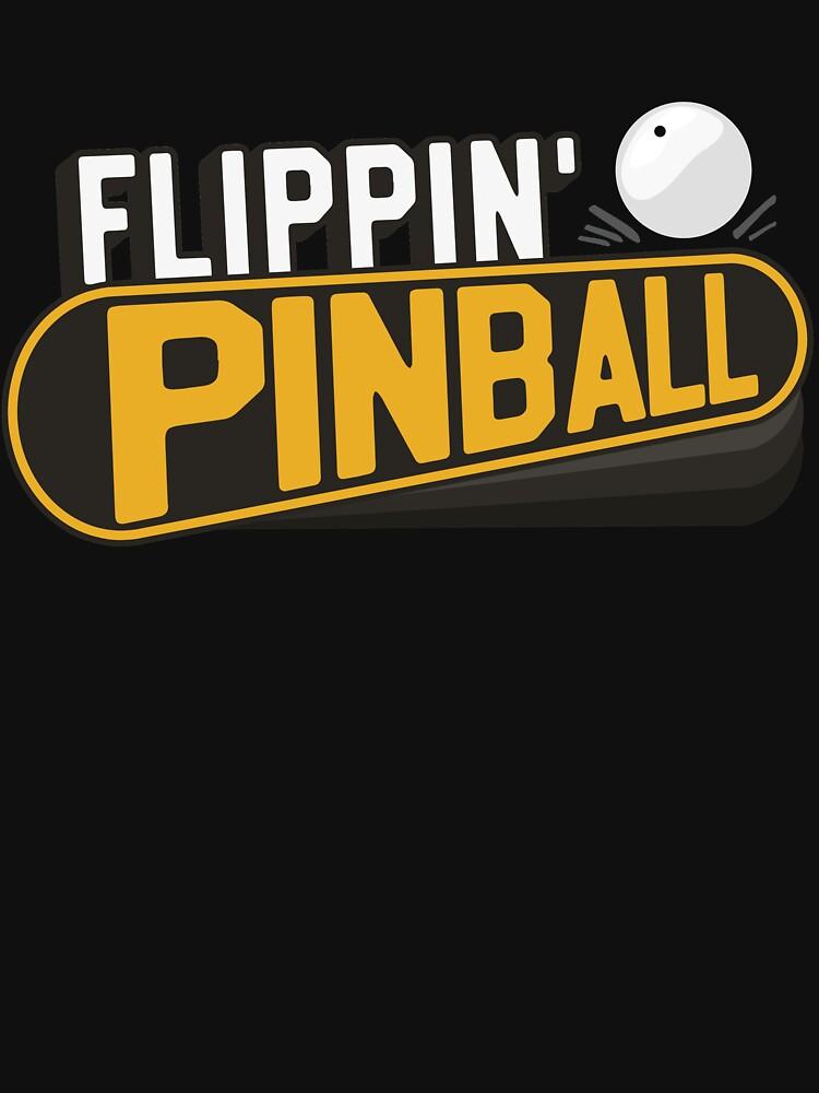 Flippin' Pinball Classic Machine Flipper And Ball by 14thFloor