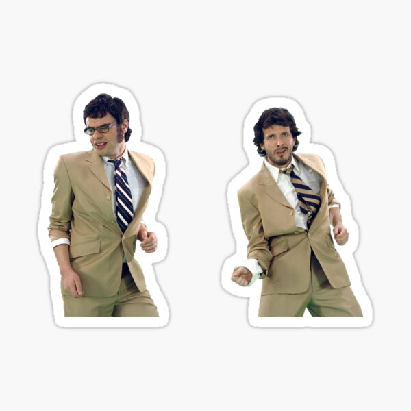 Flight of the Conchords Dancing Sticker