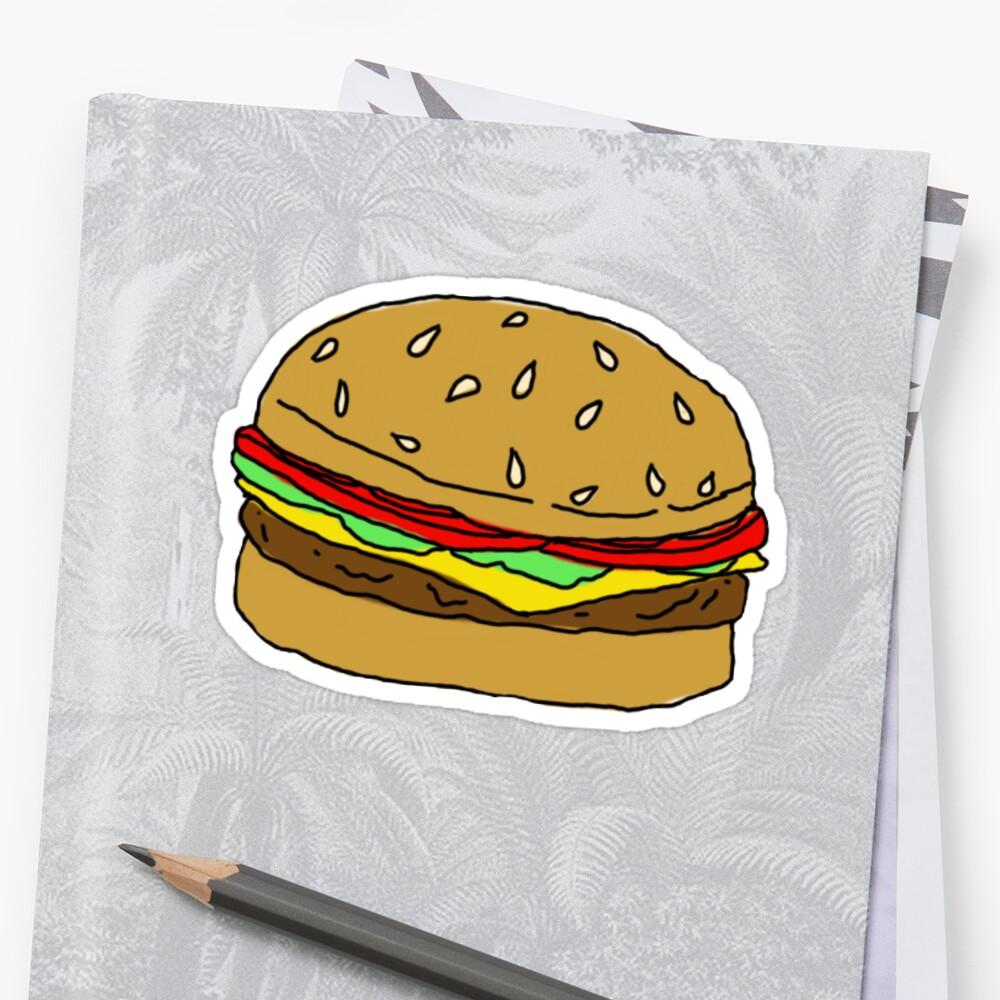 Burger drawing by BugHellerman