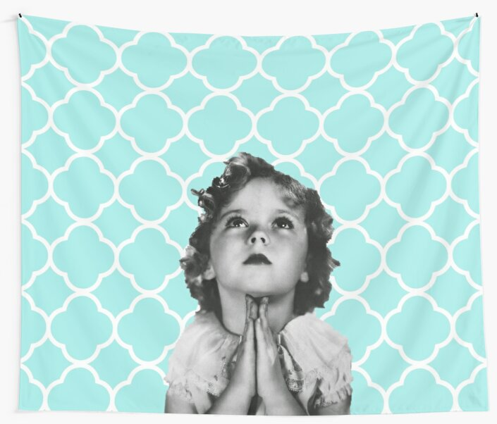 Shirley Temple Praying by Jacquelyn Stewart