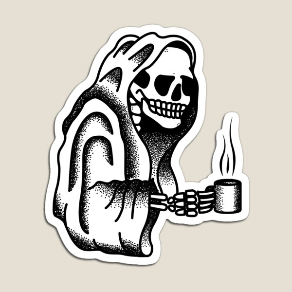Death Before Decaf Magnet