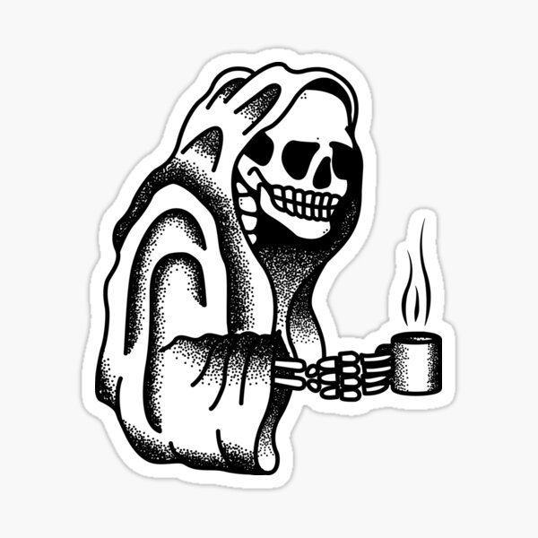 Death Before Decaf Sticker