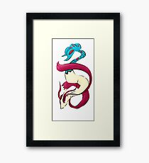 Melodious Milotic Framed Print