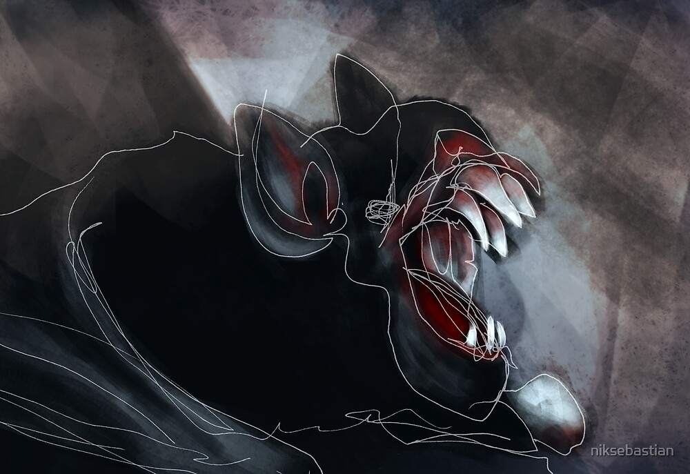 Scary Vampire Bat by niksebastian