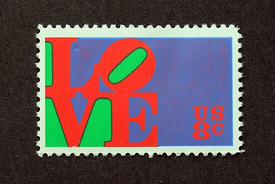 1973 8¢ Love Postage Stamp by Chris Coates