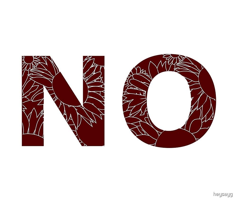 NO (Red) by heysayg