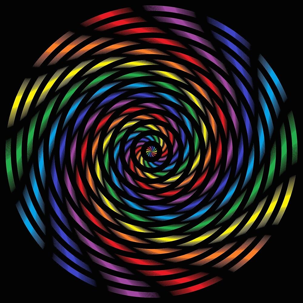 A Rainbow Pinwheel in Motion by lornakay