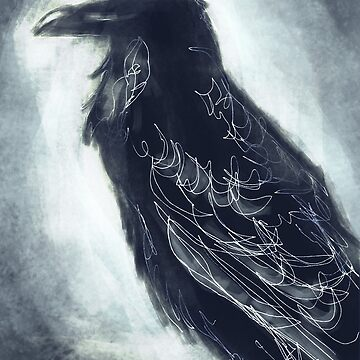 Raven in the Moonlight by niksebastian