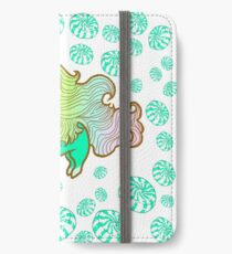 Peppermint Unicorn with Peppermint Candy on White iPhone Wallet/Case/Skin