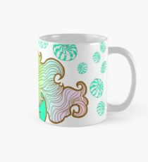 Peppermint Unicorn with Peppermint Candy on White Mug