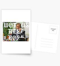 worlds best boss Postcards