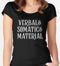 Dungeons and Dragons - VERBAL & SOMATIC & MATERIAL (Black) Critical Role Inspired Women's Fitted Scoop T-Shirt
