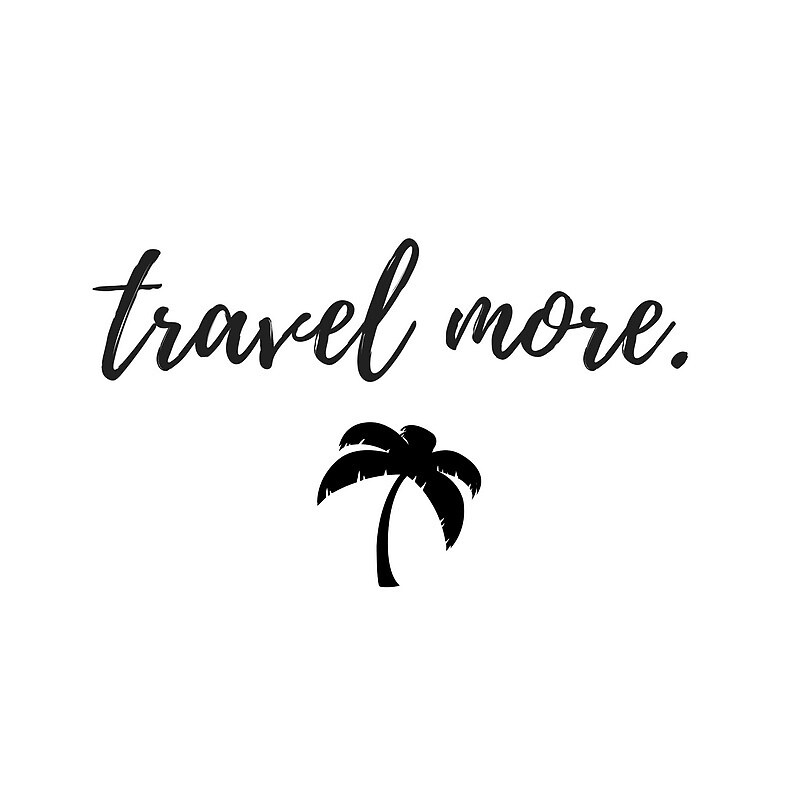 travel more sticker with palm tree by gracie-brown