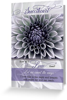Sweetheart Romantic Soft Lavender Floral Petals by Doreen Erhardt