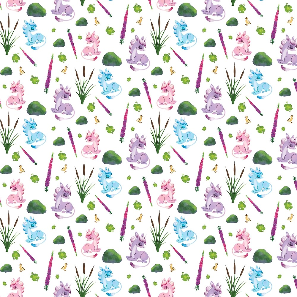 Unicorn Flora Pattern by unicorndoodles