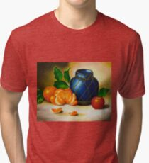 Still life in acrylic  Tri-blend T-Shirt