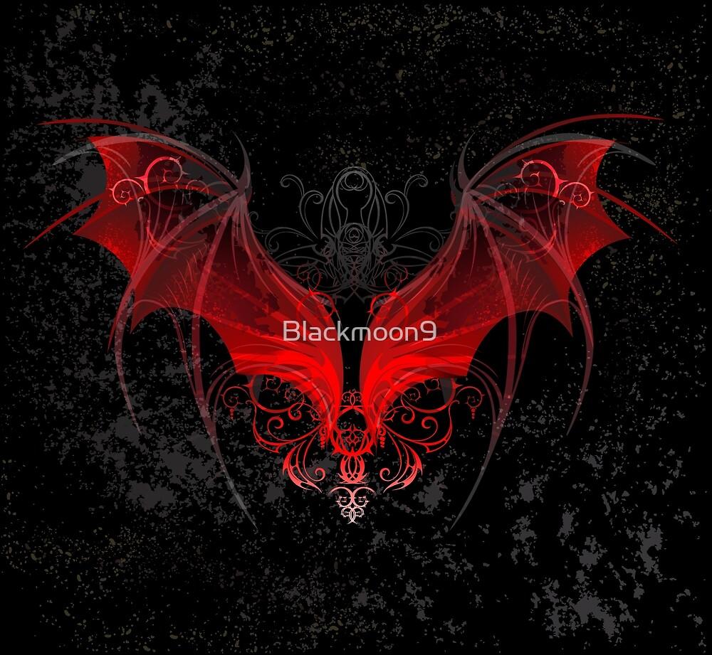 Red dragon wings ( Bat wings ) by Blackmoon9