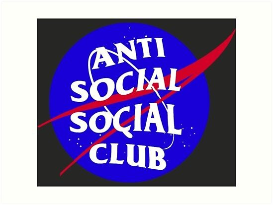 nasa anti social social club by cwalter