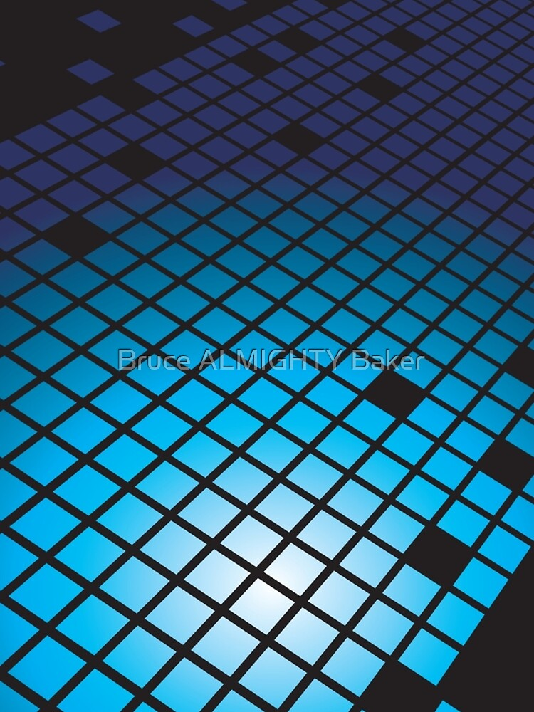 Blue Tiles Abstract Art by BruceALMIGHTY