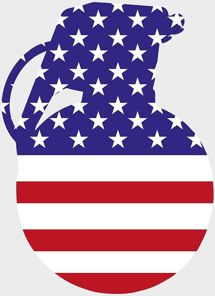 Hand Grenade American Flag by Chocodole
