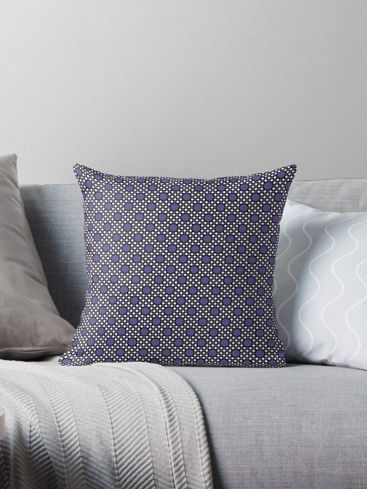 Ultra Violet  Big and Little Dots Retro Pattern by coverinlove