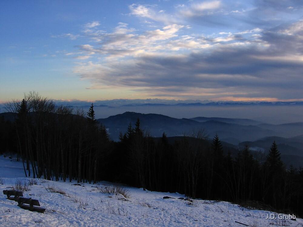 The Distant Alps, Hoch Blauen, Der Schwarzwald, Germany 2008 by J.D. Grubb