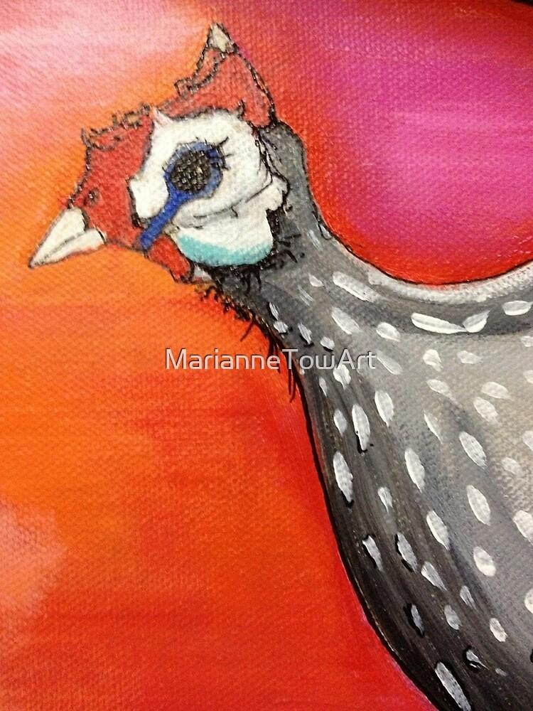 Sweet Guinea Fowl by MarianneTowArt