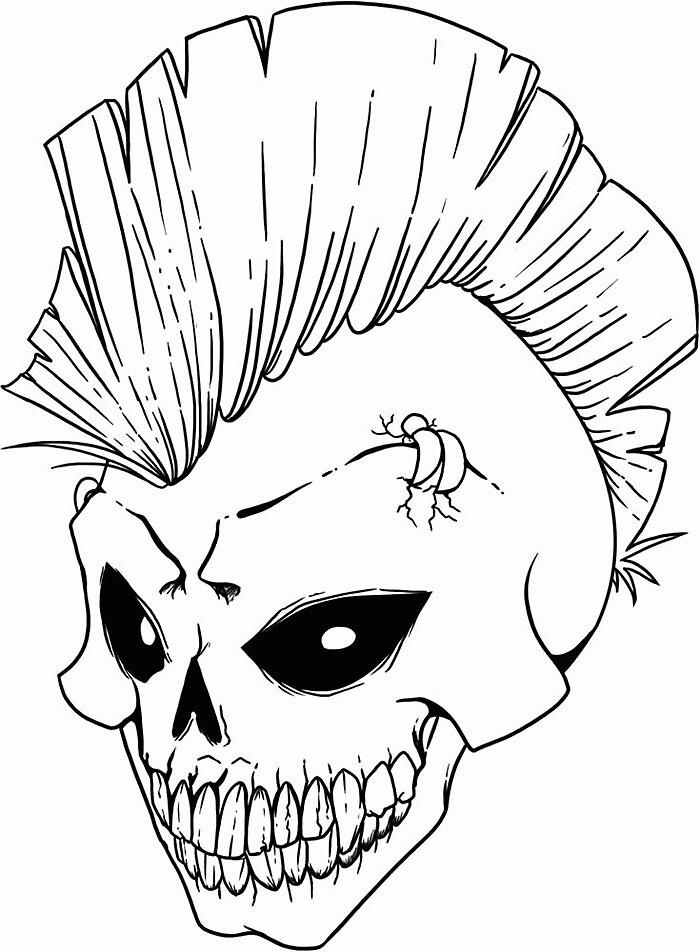 Mohawk skull by melaniec79