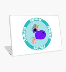 Capricorn Unicorn in Blue Laptop Skin