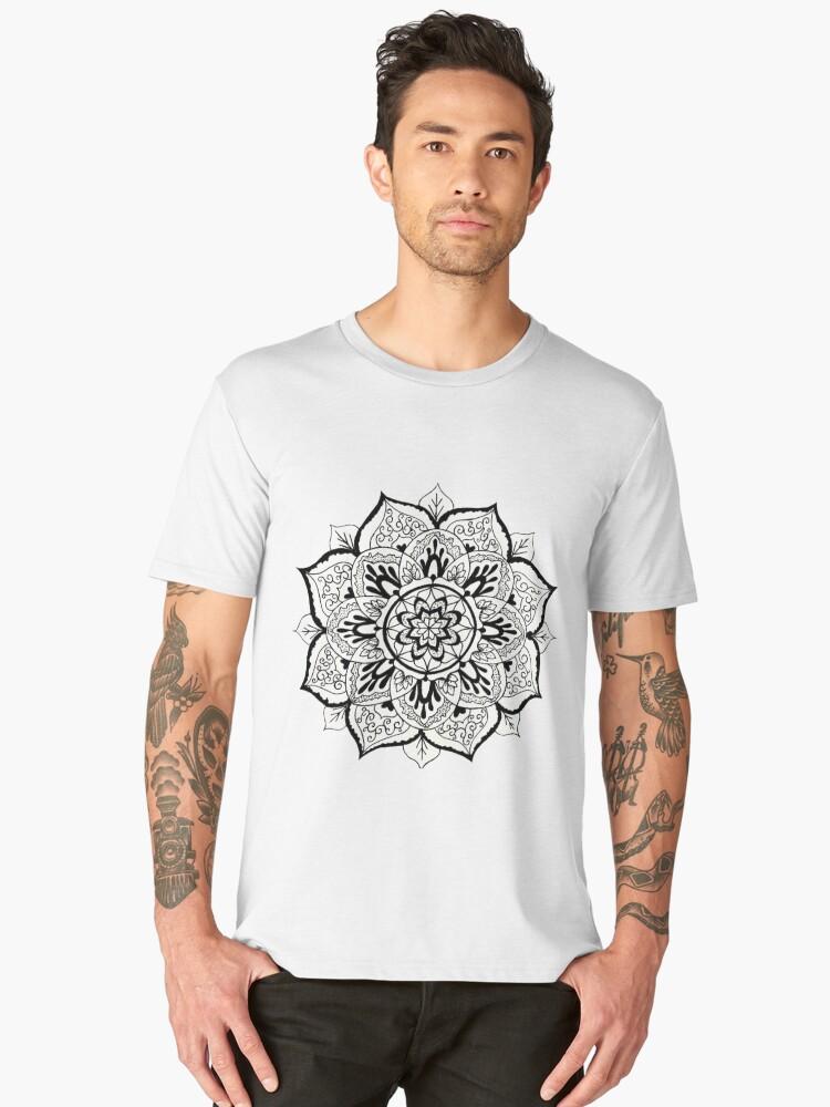 Lovely Mandala Men's Premium T-Shirt Front
