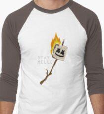 Camiseta ¾ bicolor para hombre Etiqueta engomada de Marshmello