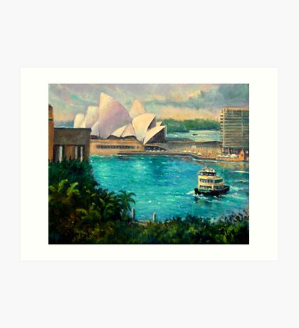 Opera House, Sydney Harbour Art Print