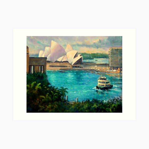 Opera House, Sydney Harbour Art Print