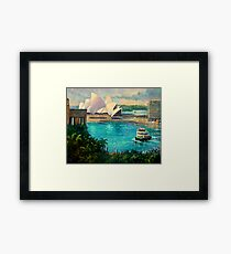 Opera House, Sydney Harbour Framed Print