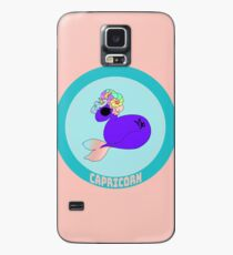 Capricorn - in Salmon Pink with Title Case/Skin for Samsung Galaxy