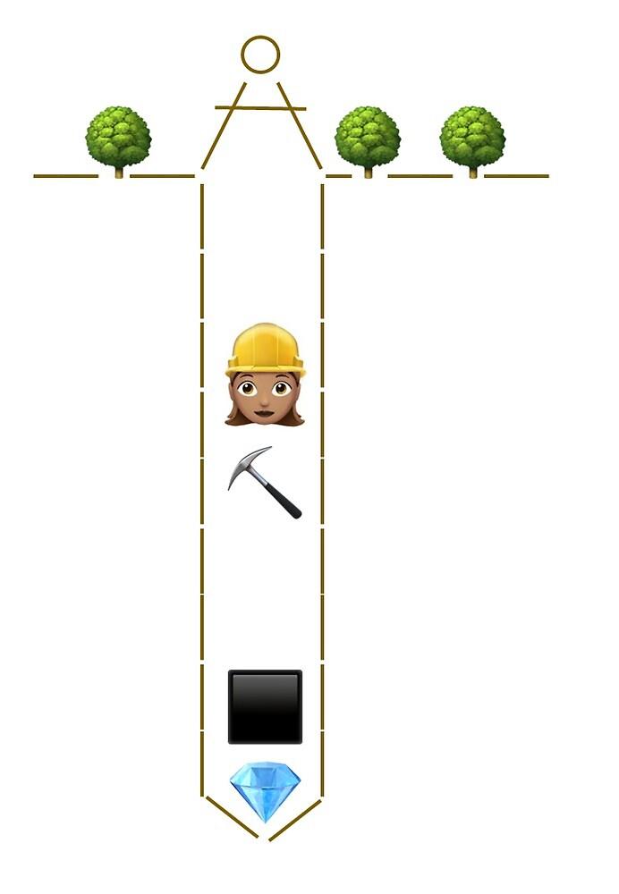 Emoji Mineshaft by alloyd
