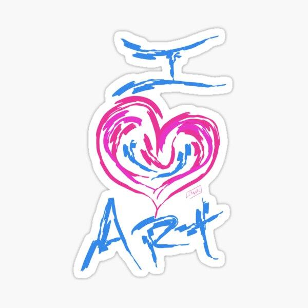 I Love Art Sticker