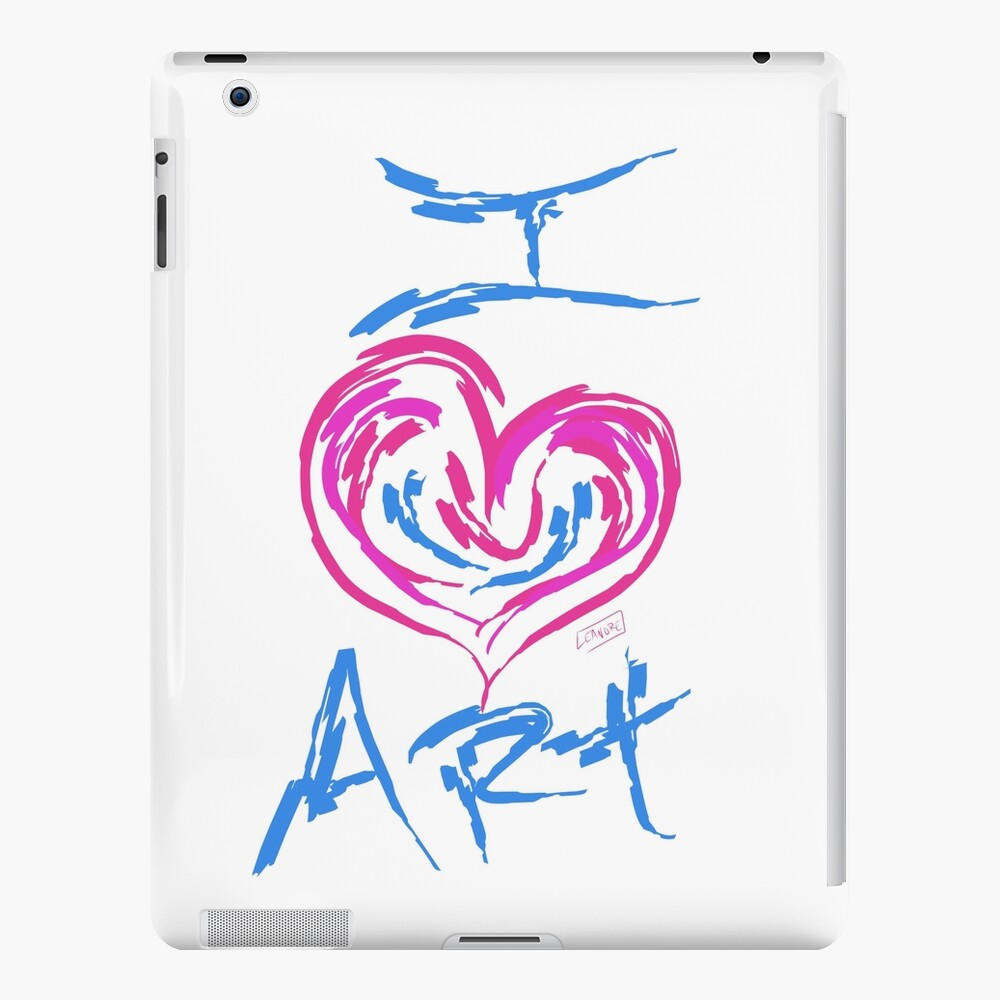 I Love Art iPad Case & Skin