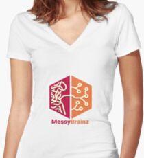 MessyBrainz Women's Fitted V-Neck T-Shirt