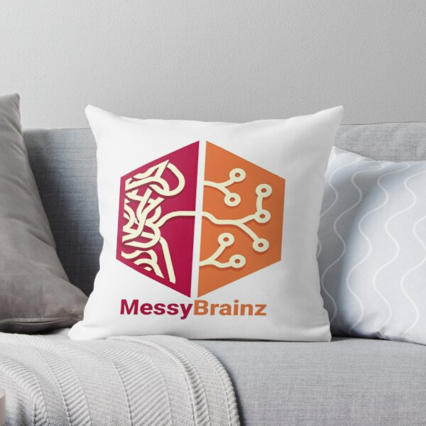 MessyBrainz Throw Pillow
