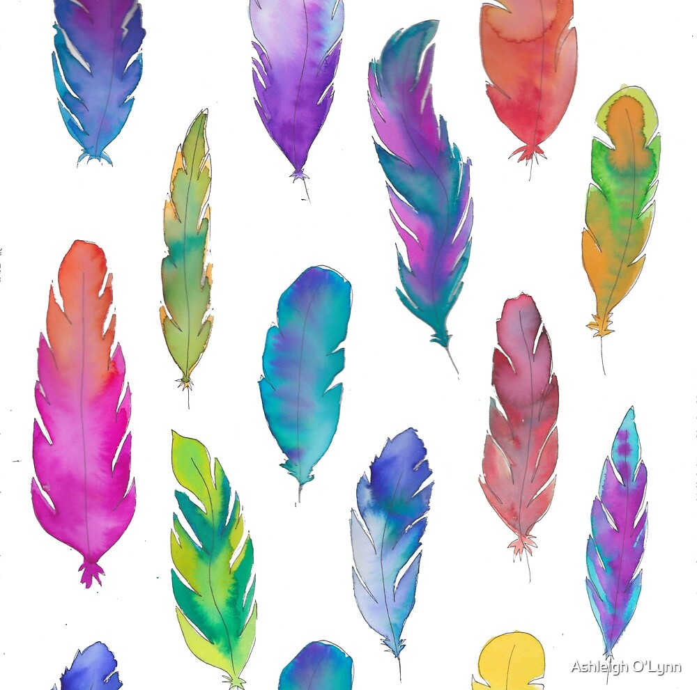 feather background by Ashleigholynnar