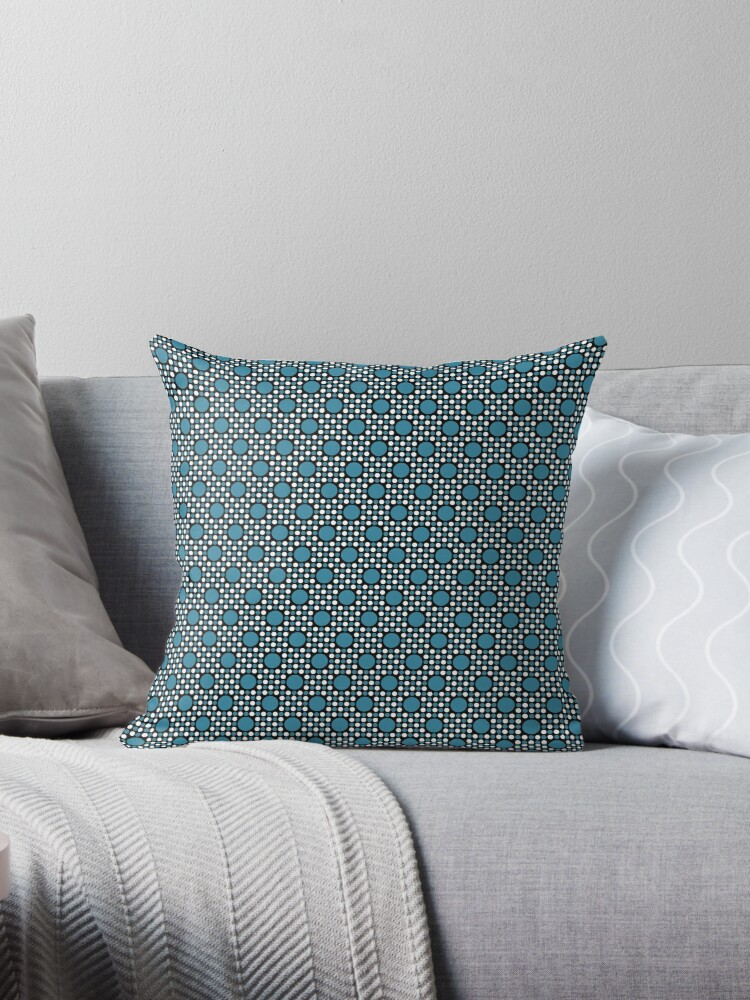 Robins Egg Blue  Big and Little Dots Retro Pattern by coverinlove