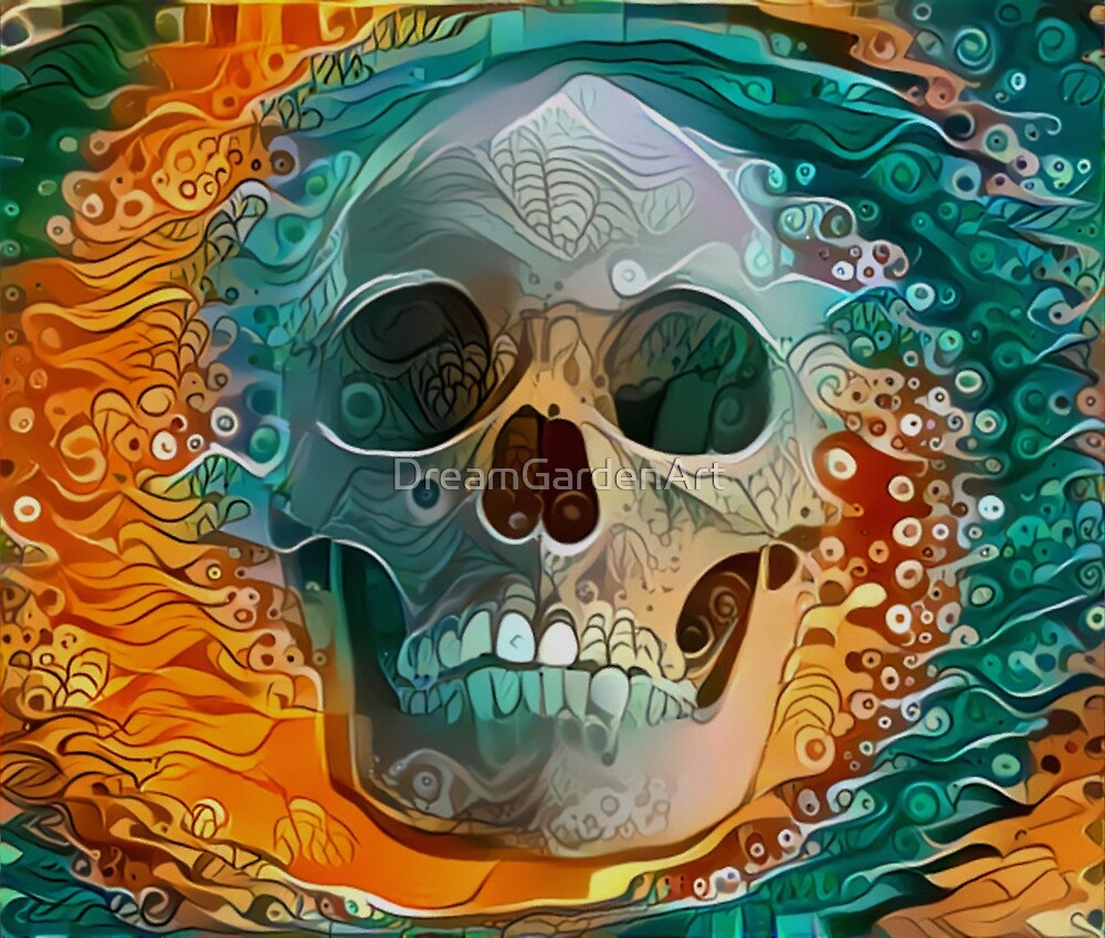 Firewater Skull by Dream Garden Graphics by DreamGardenArt