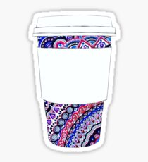 Coffee Cup with Colorful Mandala Pattern Sticker