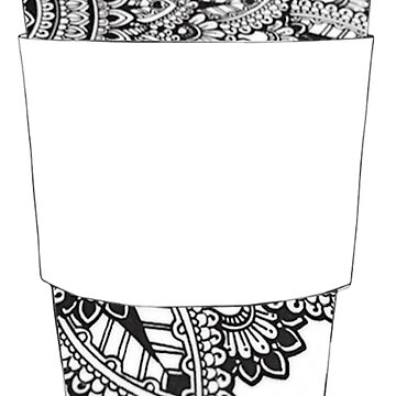 Doodle Sharpie Drawing on Coffee Cup by cea010
