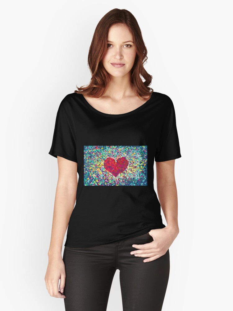 Love heat Women's Relaxed Fit T-Shirt Front